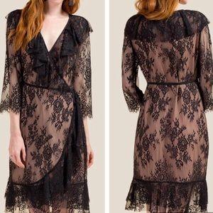 Kaylee lace wrap dress